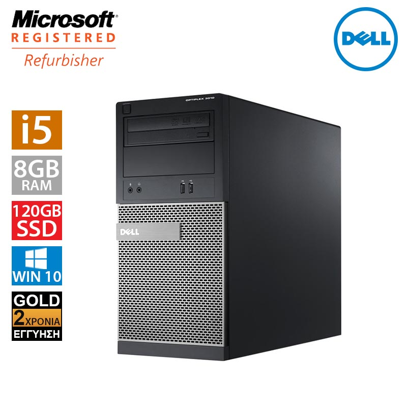 Dell Optiplex 3010 MT (i5 3470/8GB/120GB SSD + 500GB HDD)