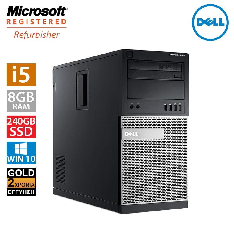Dell Optiplex 990 MT (i5 2500/8GB/240GB SSD + 500GB HDD)