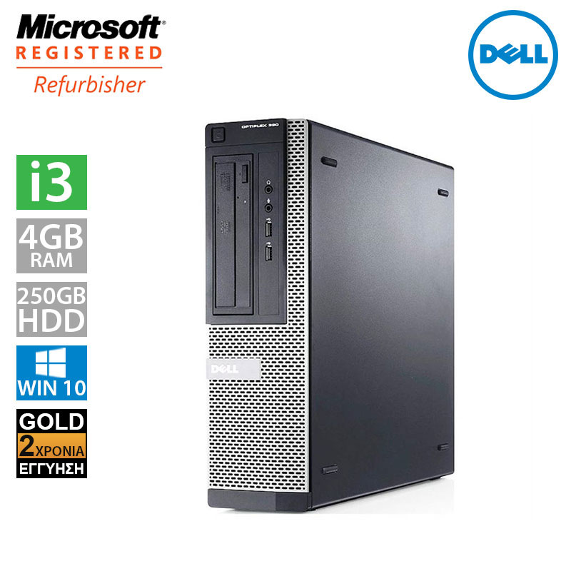 Dell Optiplex 390 DT (i3 2120/4GB/250GB HDD)