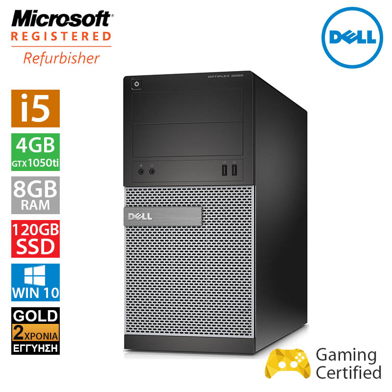 Dell Optiplex 3020 MT (i5 4570/8GB/120GB SSD + 500GB HDD/GTX 1050Ti 4GB)