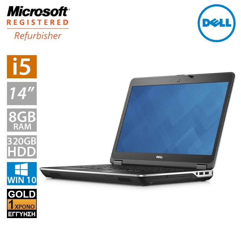 "Dell Latitude E6440 14"" HD (i5 4300M/8GB/320GB HDD)"