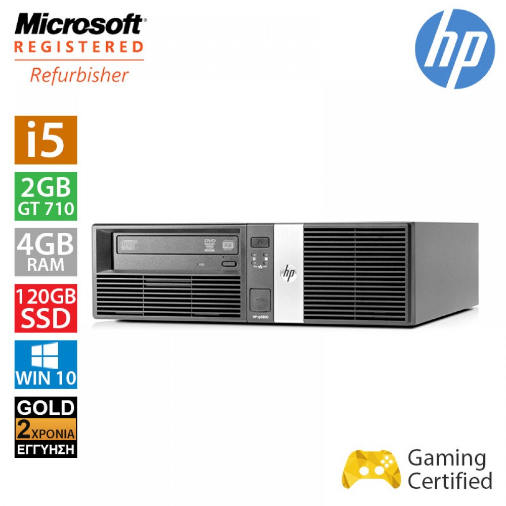 Hp RP5800 SFF (i5 2400/4GB/120GB SSD + 250GB HDD/GT710 2GB)