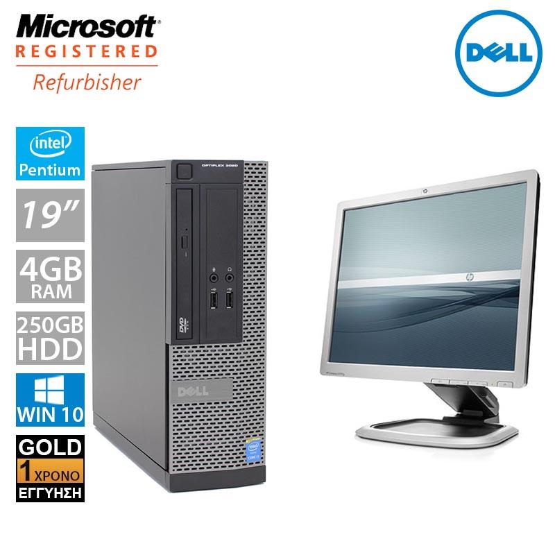 """Dell Optiplex 3010 SFF (Pentium G2030/4GB/250GB HDD/Οθόνη 19"""")"""
