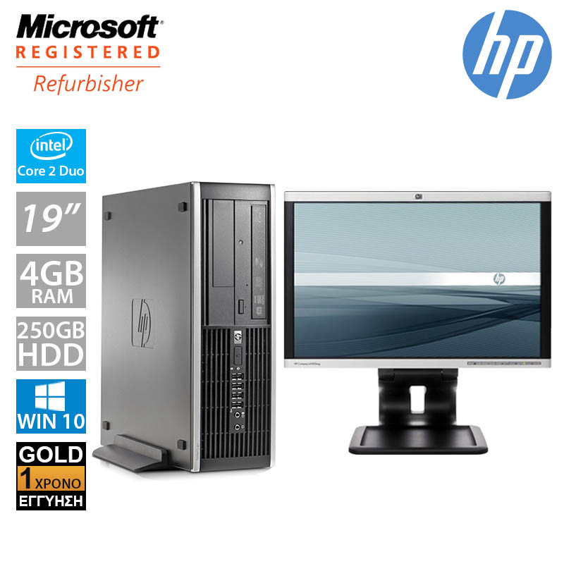 "Hp Compaq Elite 6000 SFF (C2D E8500/4GB/250GB HDD/Οθόνη 19"")"