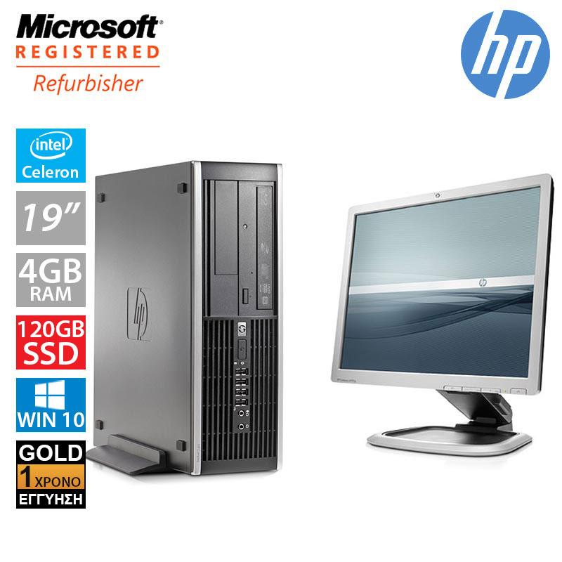 """Hp Compaq 6300 Pro SFF (Intel G550/4GB/120GB SSD + 250GB HDD/Οθόνη 19"""")"""