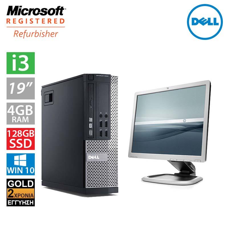 """Dell Optiplex 7010 SFF (i3 3220/4GB/128GB SSD/Οθόνη 19"""")"""