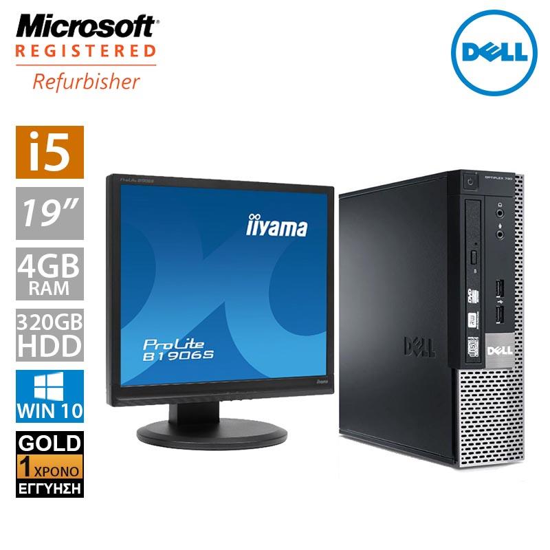 """Dell Optiplex 7010 USFF (i5 3470s/4GB/320GB HDD/Οθόνη 19"""")"""