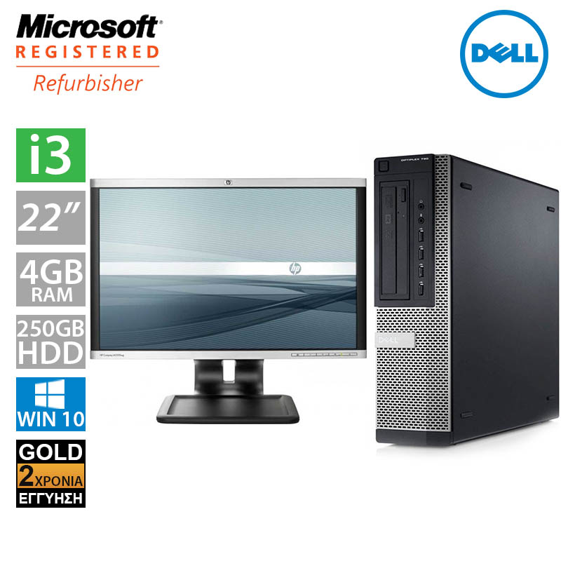 "Dell Optiplex 790 DT (i3 2100/4GB/250GB HDD/Οθόνη 22"")"