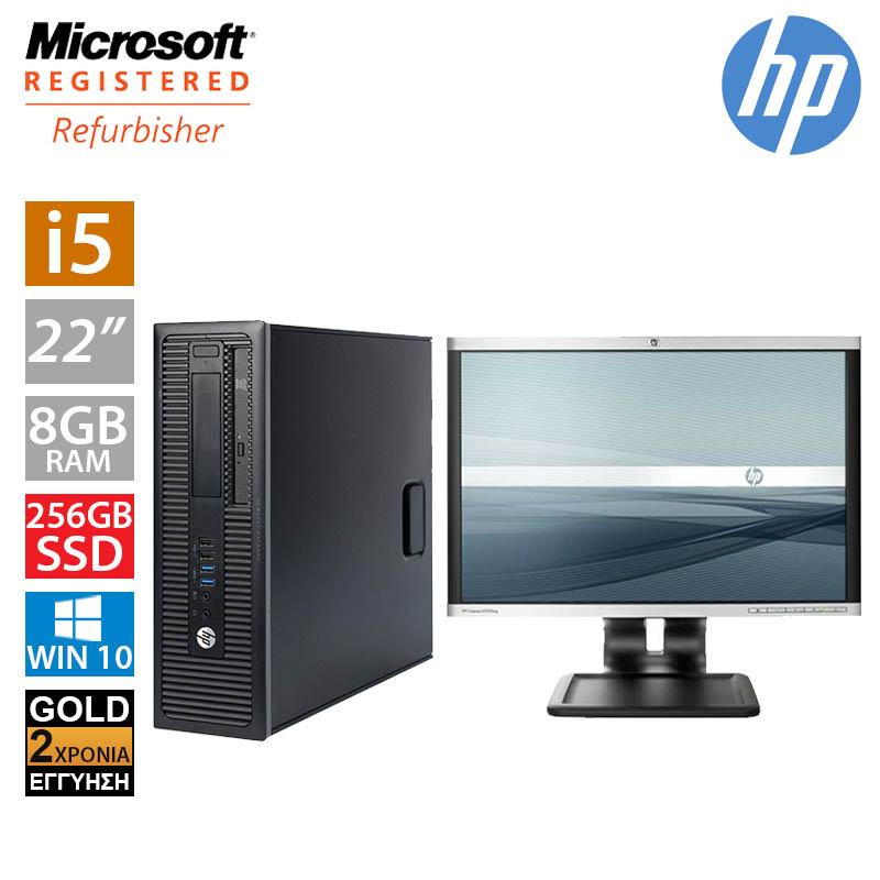 """Hp EliteDesk 800 G1 SFF (i5 4590/8GB/256GB SSD/Οθόνη 22"""")"""