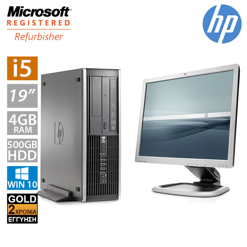 "Hp Compaq 8200 SFF (i5 2400/4GB/500GB HDD/Οθόνη 19"")"