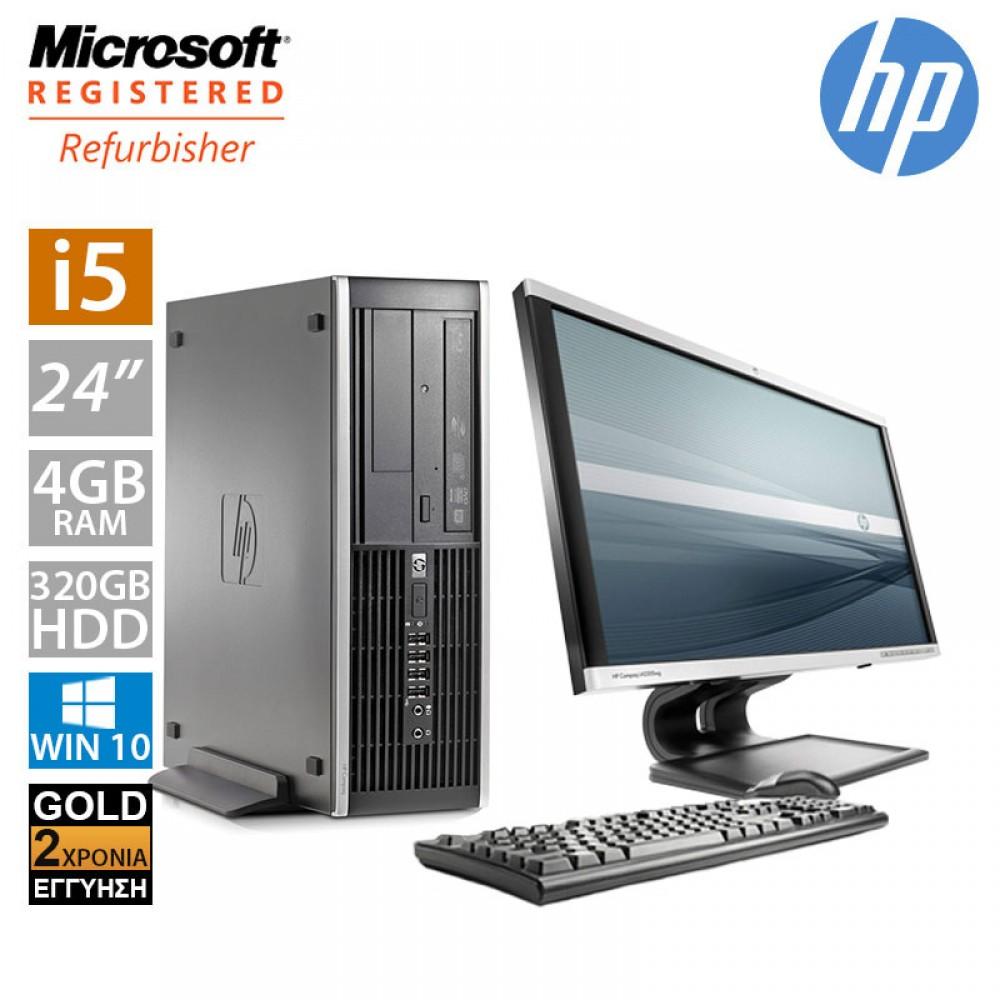 """Hp Compaq 8300 SFF (i5 3470/4GB/320GB HDD/Οθόνη 24"""")"""