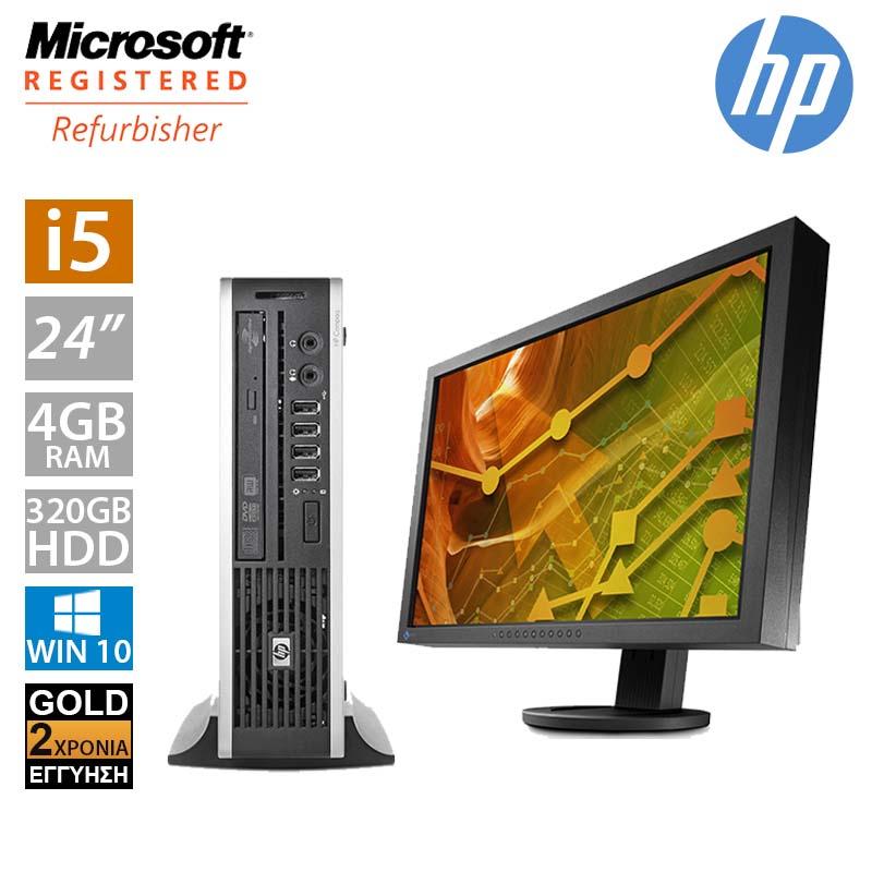 """Hp Compaq 8300 USFF (i5 3470S/4GB/320GB HDD/Οθόνη 24"""")"""