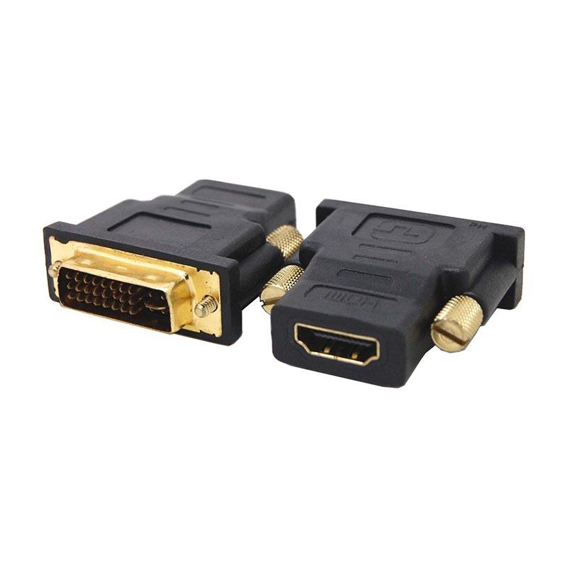 POWERTECH adapter από DVI I (24+5) M σε HDMI F, χρυσό (CAB-H056)