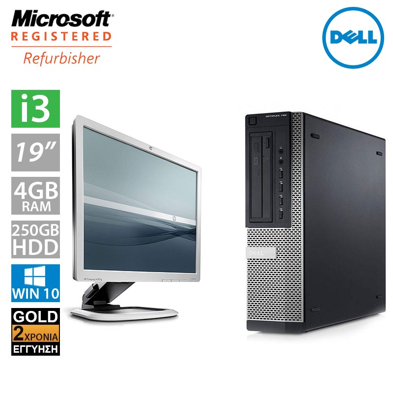 "Dell Optiplex 790 DT (i3 2100/4GB/250GB HDD/Οθόνη 19"")"
