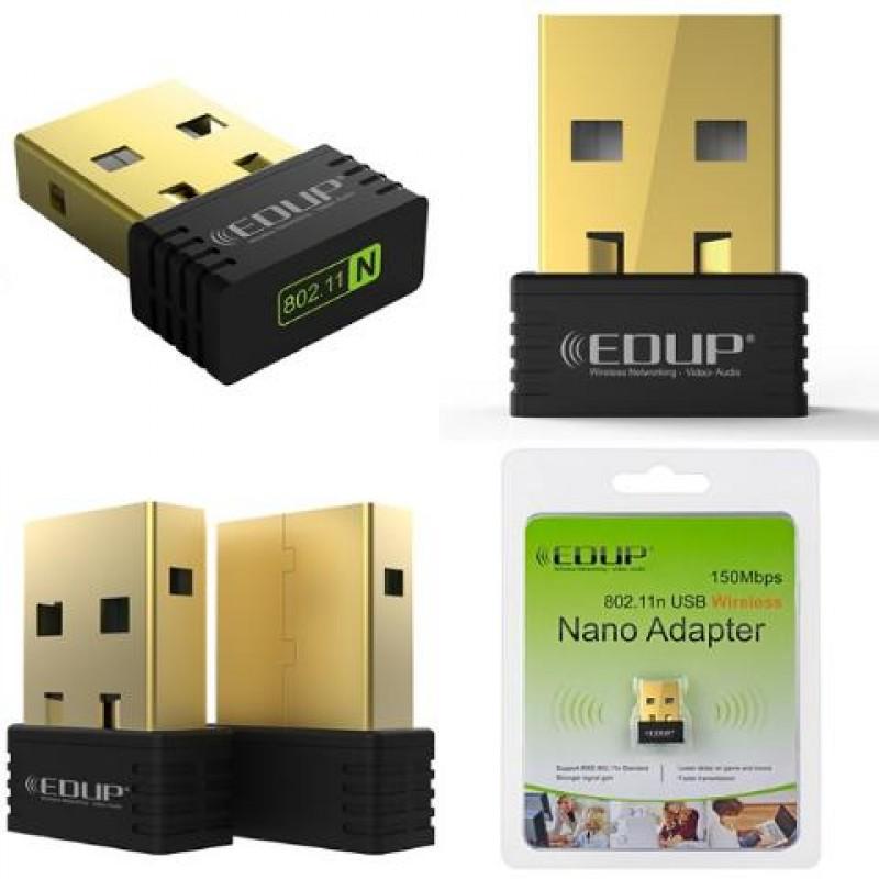 EDUP Wireless Nano USB Adapter EP-N8553, 150Mbps, 802.11b/g/n