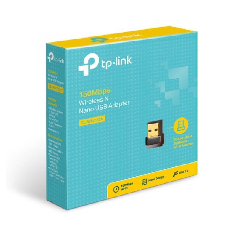 TP-LINK Ασύρματο N Nano USB Adapter TL-WN725N, 150Mbps, Ver. 3.0